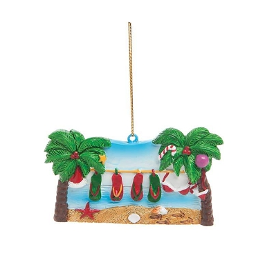 Flip Flop Clothesline Ornament