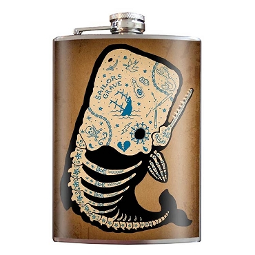 Flask - Tattooed Whale